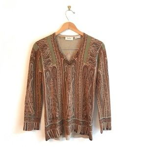 Neiman Marcus S vintage cashmere brown sweater tan